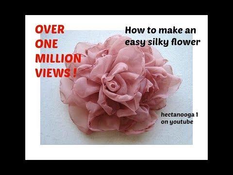 Easy Method Beautiful Silky Flower Diy Fabric Flower Tutorial