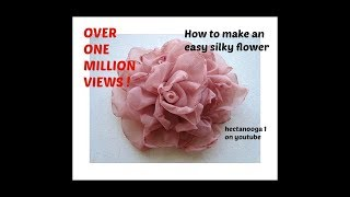 EASY METHOD, BEAUTIFUL SILKY FLOWER # 2, DIY fabric flower tutorial thumbnail