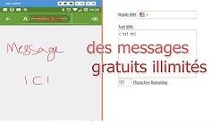 envoyer des messages SMS gratuitement vers tous les pays!! illimités