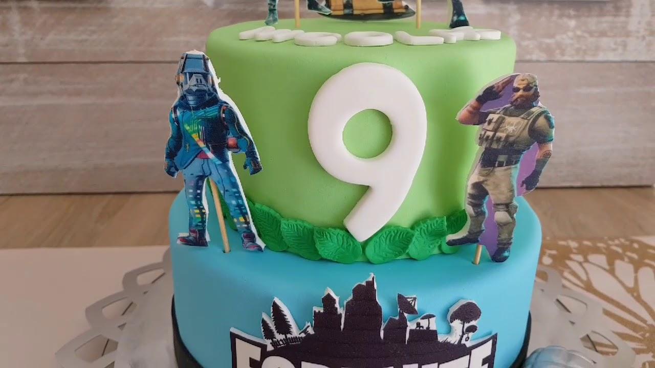 9 Years Birthday Boy Cake Ideas Fc Bayern Munchen Cake Fortnite Cake Youtube