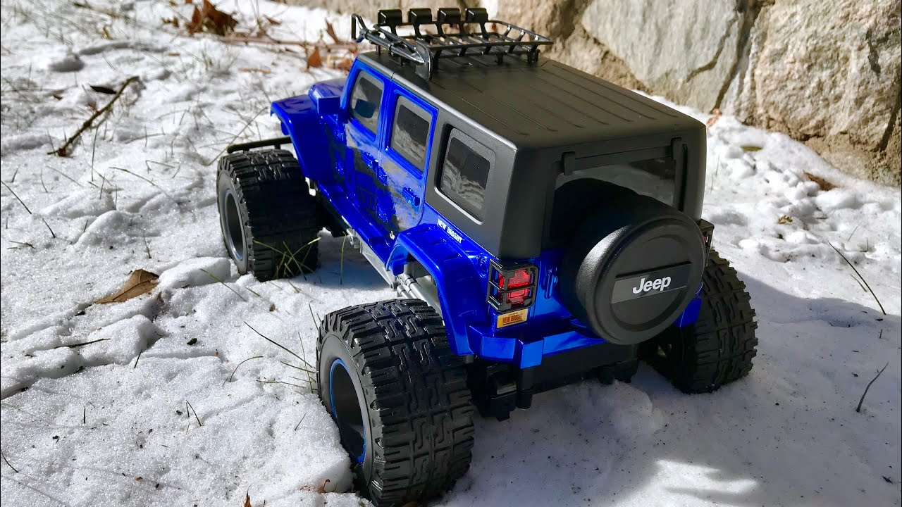 4x4 off road adventure jeep wrangler review rc toys by new bright youtube. Black Bedroom Furniture Sets. Home Design Ideas