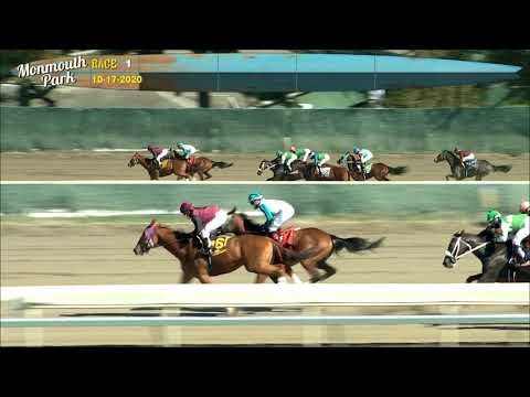 video thumbnail for MONMOUTH PARK 10-17-20 RACE 1