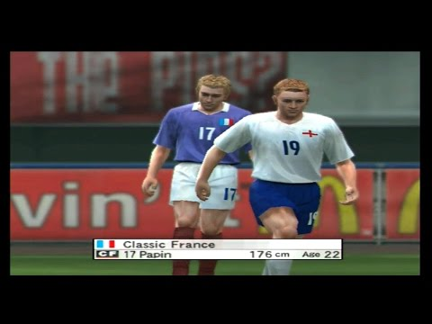 Classic England vs Classic France - World Soccer Winning Eleven 8 (Xbox)