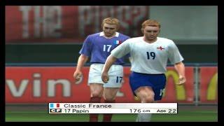 Classic England vs Classic France - World Soccer Winning Eleven 8 (Xbox)