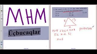 MHM- Üçbucaqlar (1 - 30)