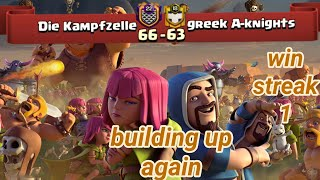 Die Kampfzelle vs greek A-knights | war recap | win streak 1 | best of clan war | COC clash of clans