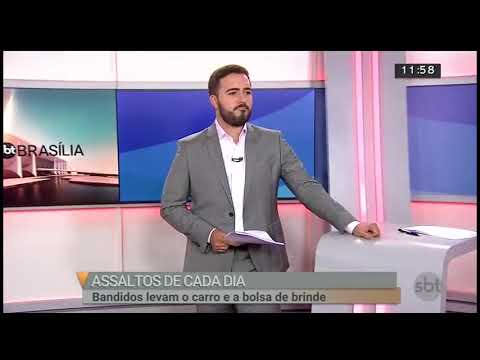 Bandidos rendem mulherem em Salão de Beleza | SBT Brasília 15/06/2018