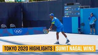 🎾 सुमित नागल ने डेनिस इस्मोटिन को दी शिकस्त   मेंस टेनिस टोक्यो 2020 हाइलाइट्स