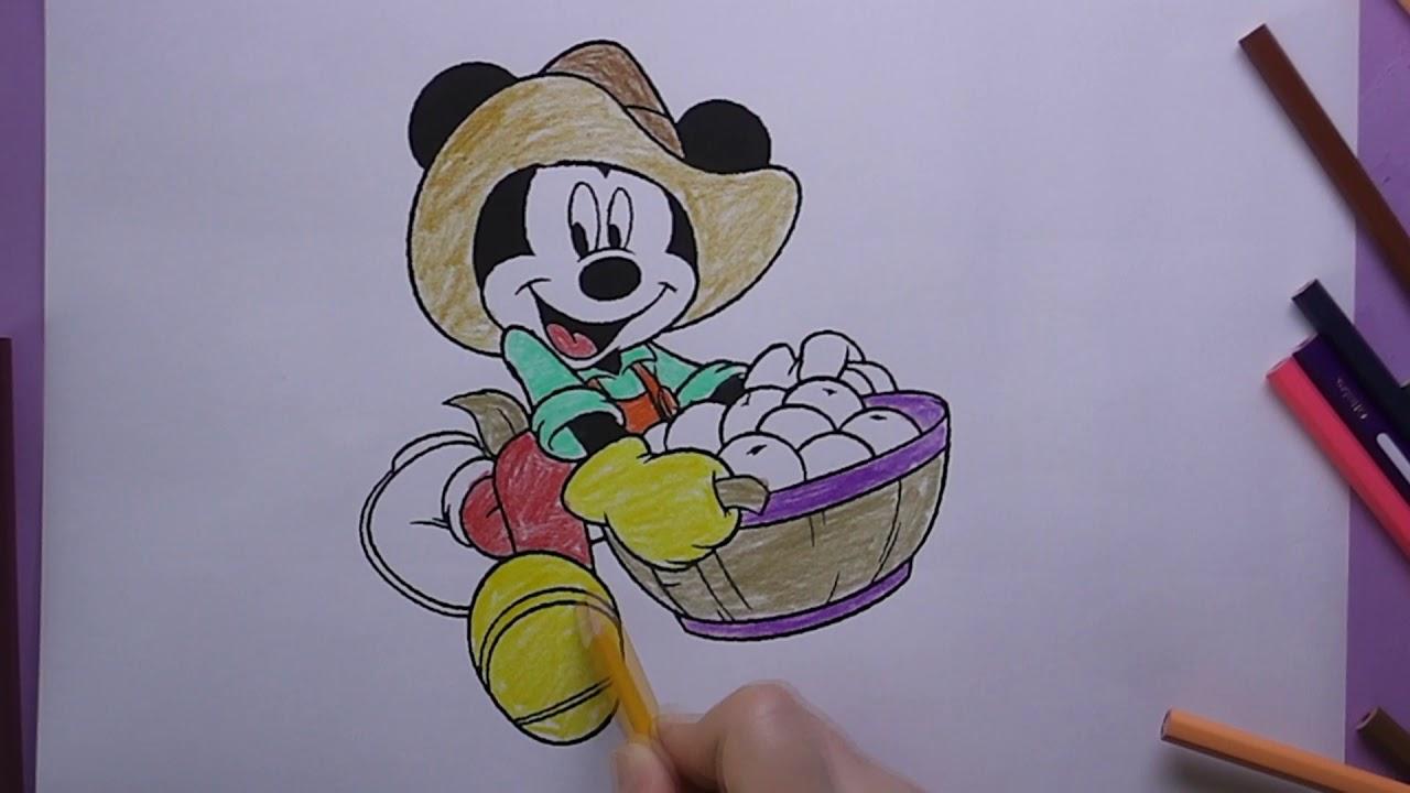 Mickey Mouse Boyama Mickey Mose Nasil Boyanir Coloring Mickey