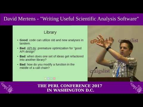 "David Mertens - ""Writing Useful Scientific Analysis Software"""