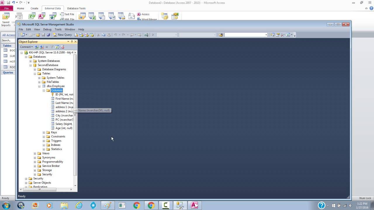 How to link ms access to ms sql server 2012 youtube how to link ms access to ms sql server 2012 sciox Choice Image