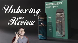 VAPORESSO LUXE PM40 wİth TURBO BOOSTING TECH & LONG LASTING BATTERY LIFE🇵🇭