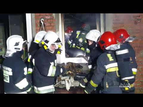 Pożar mieszkania w Trzebiechowie