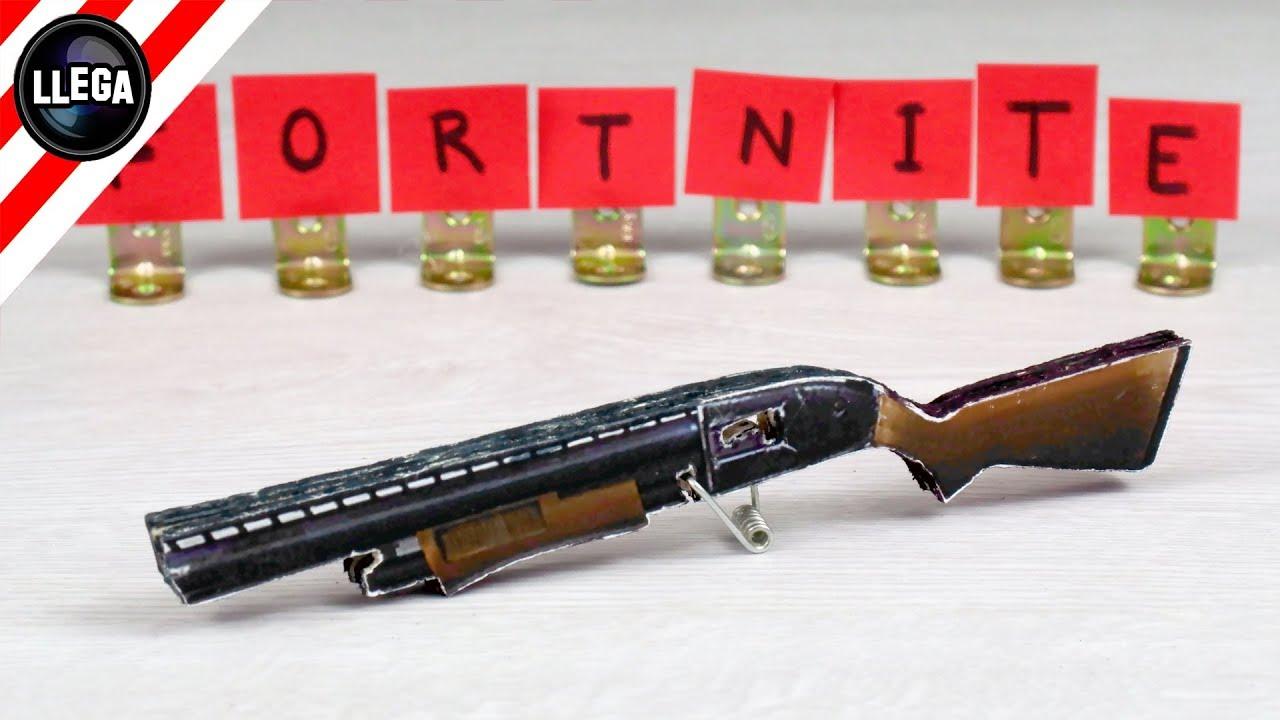 CÓMO HACER UNA PISTOLA CON PAPEL | FORTNITE: Battle Royale