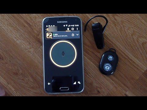 Zello PTT Bluetooth button with bluetooth headset