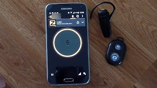Zello PTT Bluetooth button with bluetooth headset