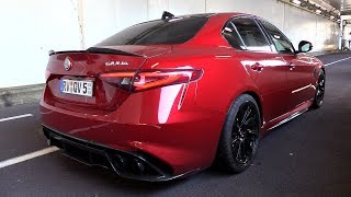 612HP Alfa Romeo Giulia Quadrifoglio w/ Pogea Racing Exhaust - Start, Revs, Accelerations!