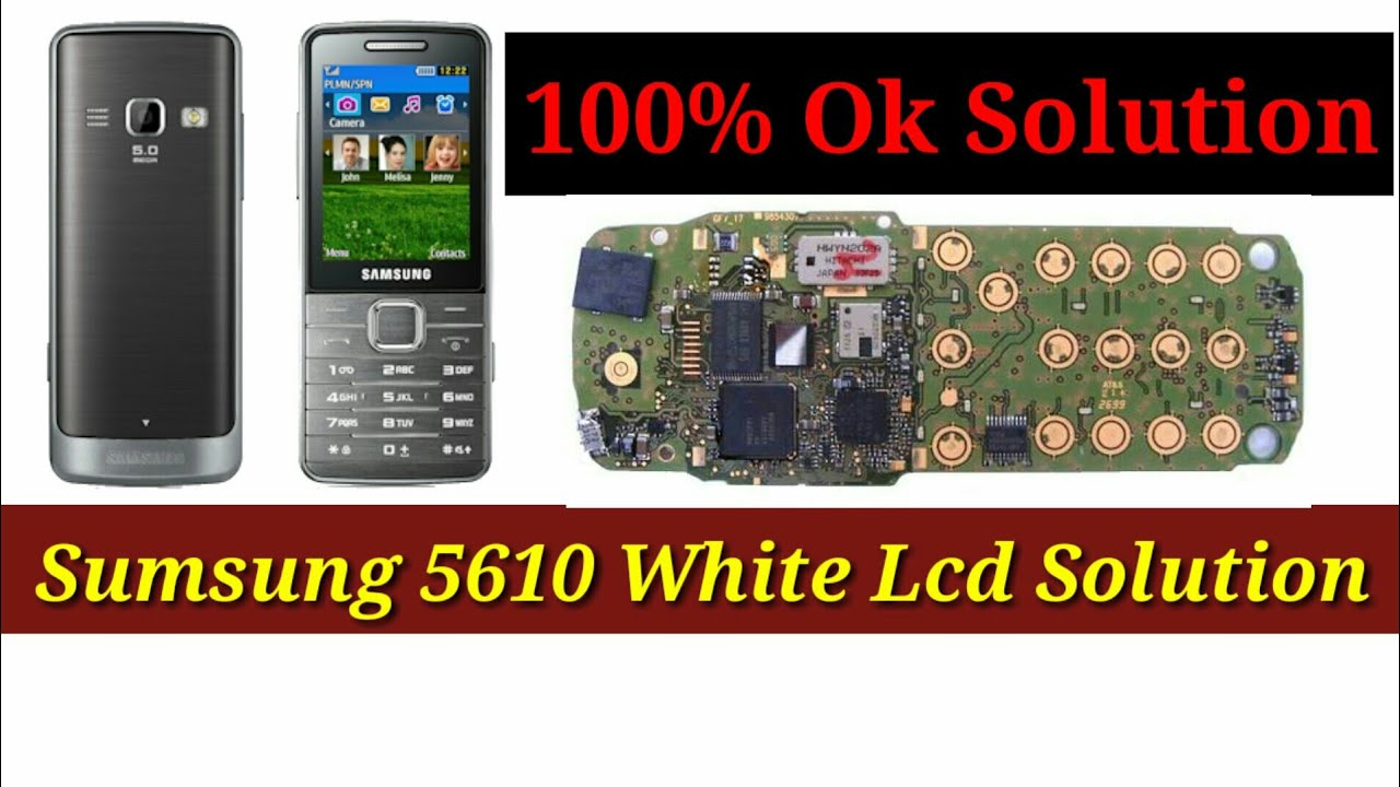 Samsung Gt S5610 White Display 100 Ok Salusan How To Samsung White