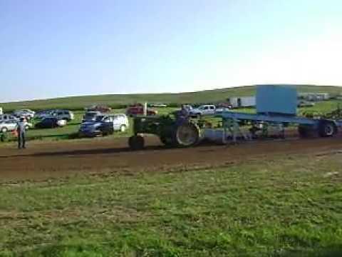 1953 John Deere 60 Tractor pulling Rae Valley Heritage Association Petersburg, NE 2013