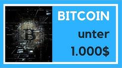 Bitcoin Kurs: 5 Gründe wieso der Bitcon bis Ende 2019 auf unter 1000$ sein wird! [Meine Prognose]