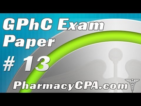 GPhC Exam Paper - Questions and Answers