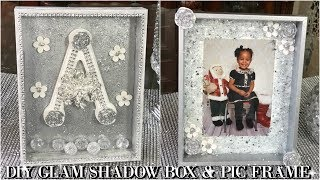 DIY DOLLAR STORE | GLAM SHADOW BOX AND PICTURE FRAME | DIY HOME DECOR IDEAS Video
