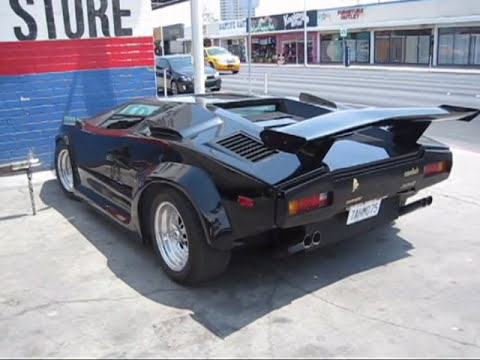 Lamborghini Countach LP 5000 Kit Car 360 Degrees Walking Around And Inside  Of The Car