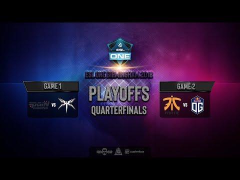 [DOTA 2 LIVE] FNATIC VS OG DOTA 2 |Bo3|  ESL One Birmingham 2018 - Main Event Quarterfinals