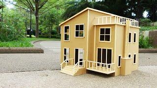 집에서 골판지로 맨션 만드는 법 아이스 스틱 하우스  …