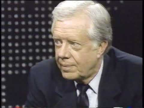 jimmy carter  interview with guy on rt Larry King 1987