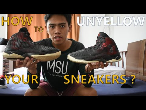 How To UNYELLOW Your Sneakers? | Unboxing | Sole Reborn |