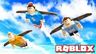Roblox Adventures - DANGEROUS JET PACK RACING IN ROBLOX! (JetPack World)