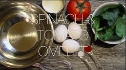 Spinach & Tomato Omelet Recipe | LIDIA DANIEL