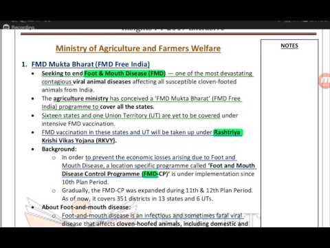 IAS Prelims-2017| capsule-8| Ministry of agriculture