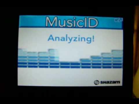 Demo of Shazam MusicID software for Blackberry