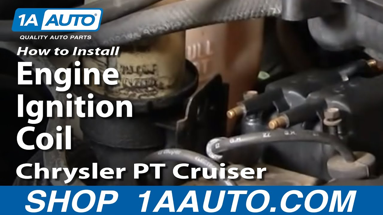 How To Install Replace Engine Ignition Coil Chrysler PT Cruiser 0103 1AAuto  YouTube