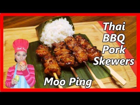 Thai BBQ Pork  Skewers (Moo Ping)
