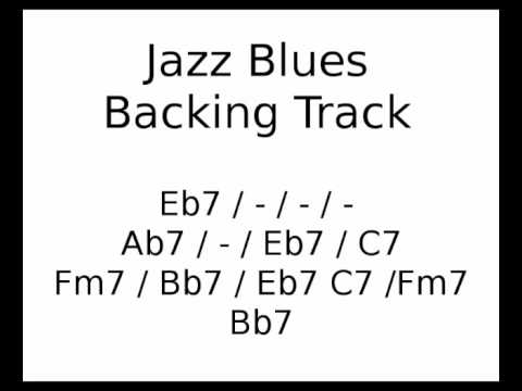 Jazz Blues backing track in Eb