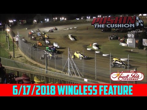Angell Park Speedway - 6/17/18 - Wingless Sprints - Feature