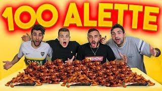 🍗 100 ALETTE di POLLO CHALLENGE! (10,000 Kcal) w/Tatino, Fius Gamer, Ohm