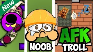 Surviv.io NEW **UPDATE** VS AFK TROLL VS NOOB// SURVIV FUNNY AND BEST MOMENTS!!!