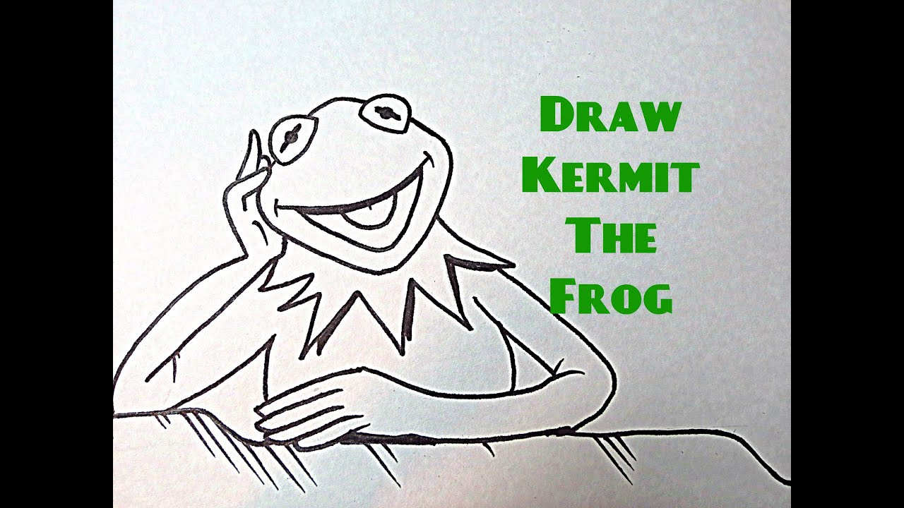 How To Draw Kermit The Frog Youtube
