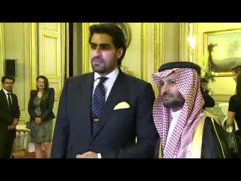 Cérémonie, le prince Salman bin Abdul Aziz au Sénat français