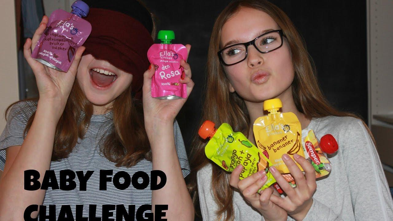 Babyfood Challenge Ft Sara Camilla Youtube