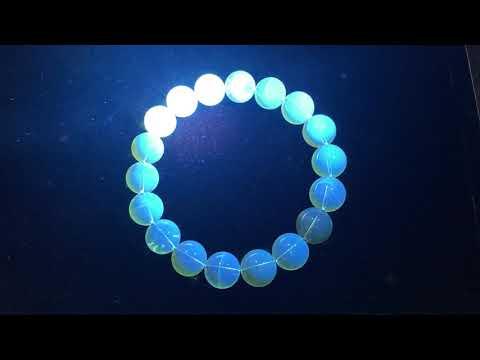 琥珀原礦-墨西哥藍珀手鍊