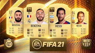 LAS MEDIAS de REAL MADRID y BARCELONA en FIFA 21