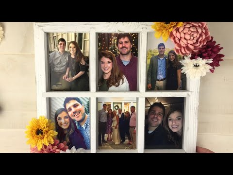 DIY Rustic Flower Window Photo Frame Bridal Shower Decor & Engagement Gift Idea