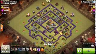 Clash Of Clans Attack strategy th8 GOPEWI full 3 star