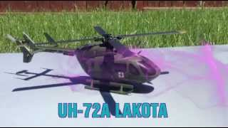 RC UH 72A Lakota (EC 145 Eurocopter Heli-Max) Flight Test