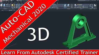 Auto-CAD Mechanical 3D Modeling In Hindi | [ Complete ] AutoCAD Mechanical Modeling | 3D Parts.